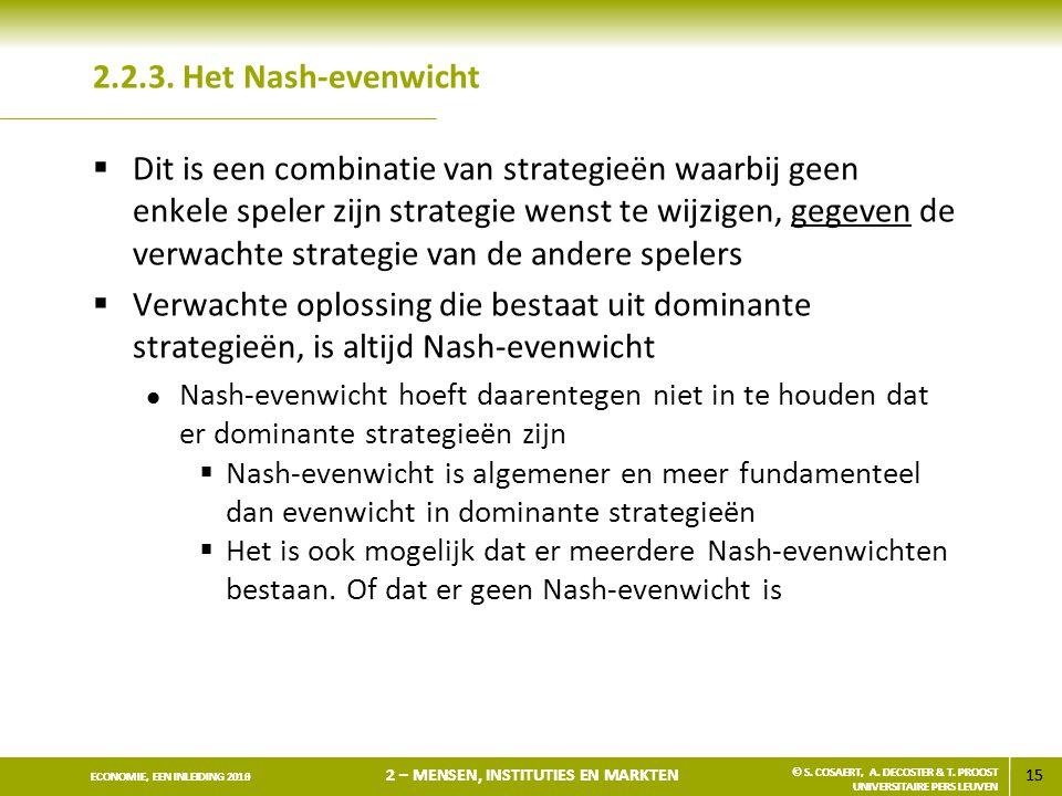 2.2.3. Het Nash-evenwicht