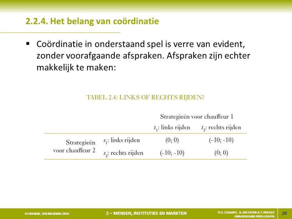 2.2.4. Het belang van coördinatie
