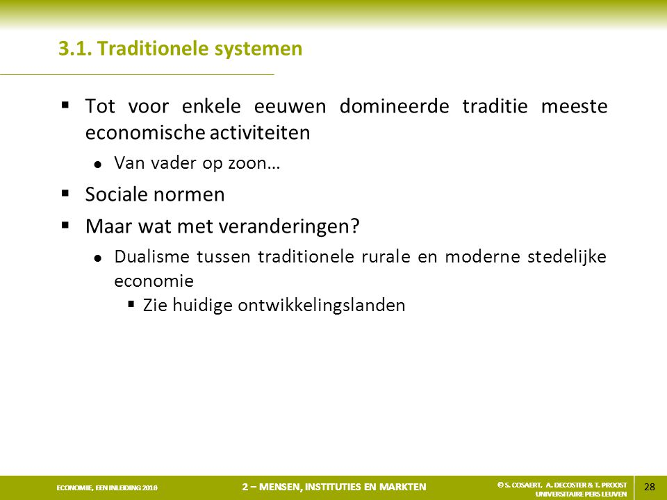 3.1. Traditionele systemen