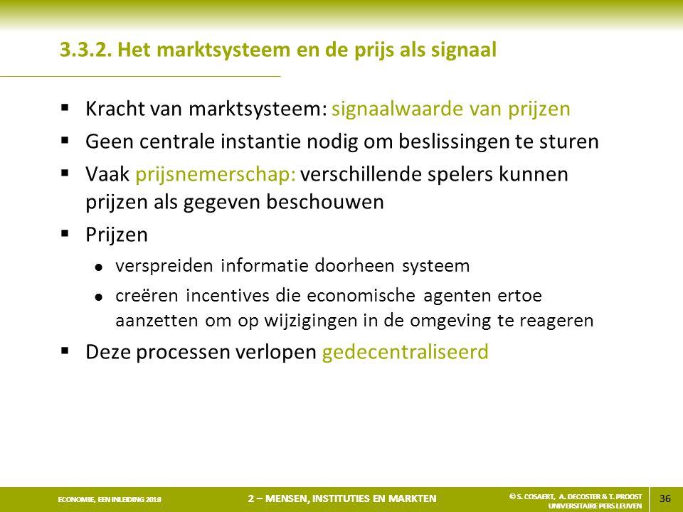 3.3.2. Het marktsysteem en de prijs als signaal