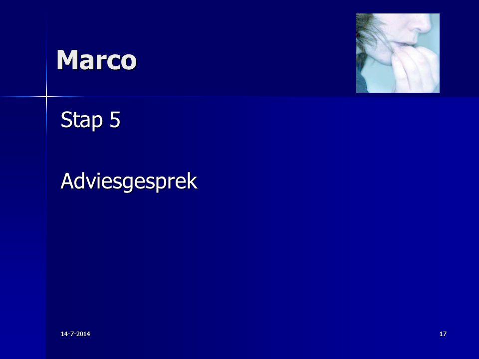 Marco Stap 5 Adviesgesprek 4-4-2017