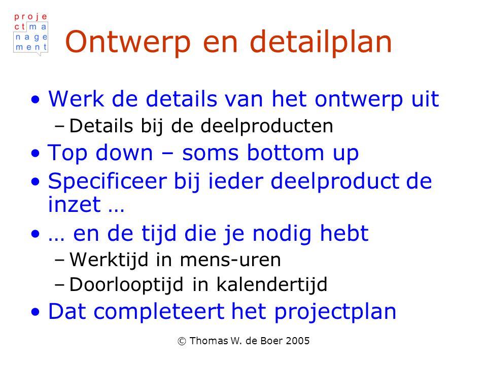 Ontwerp en detailplan Werk de details van het ontwerp uit