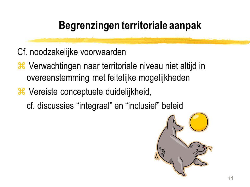 Begrenzingen territoriale aanpak
