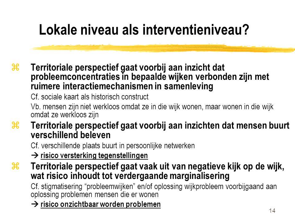 Lokale niveau als interventieniveau
