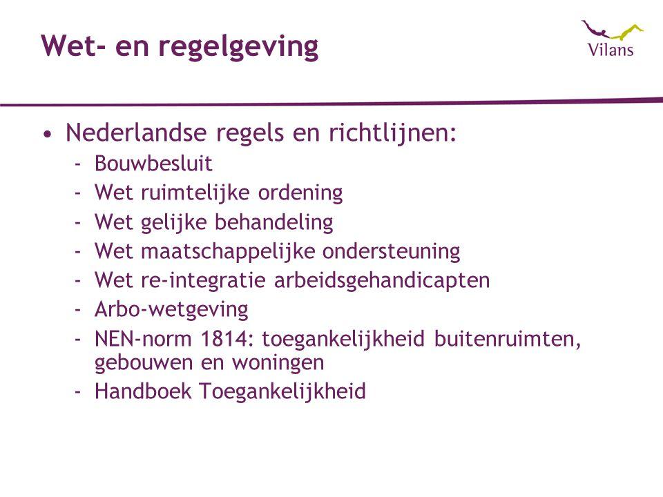 Wet- en regelgeving Nederlandse regels en richtlijnen: Bouwbesluit