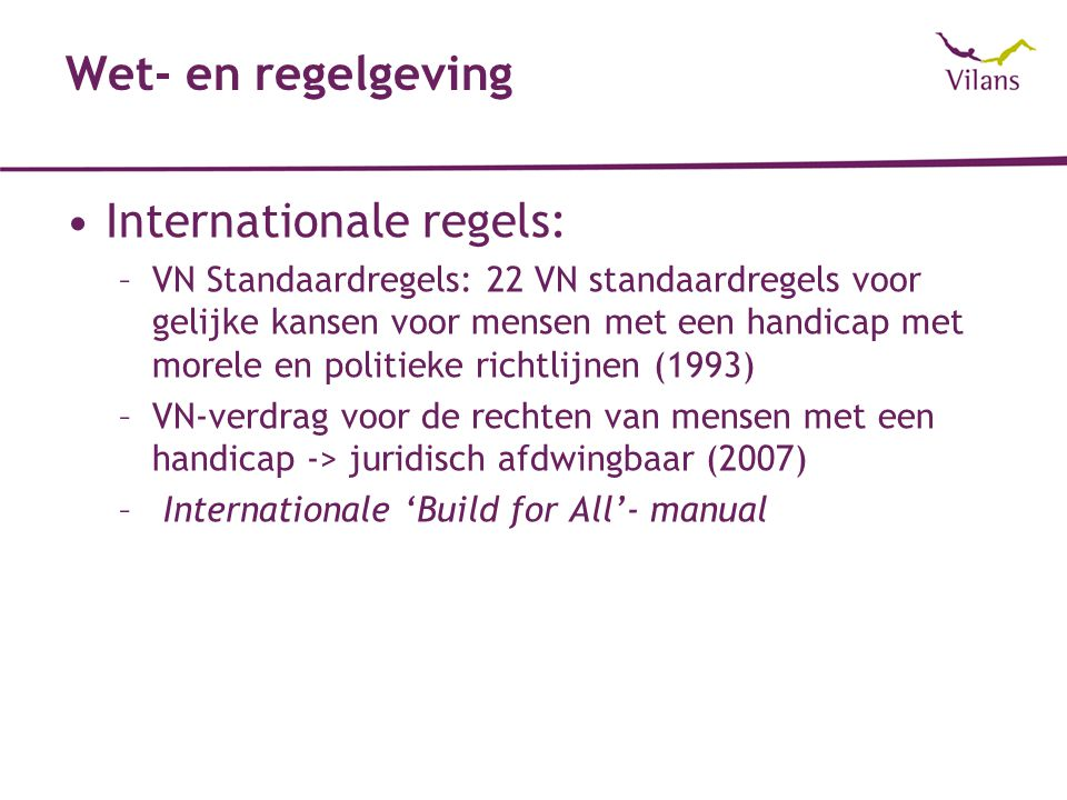 Internationale regels: