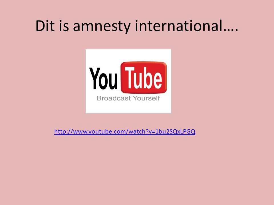 Dit is amnesty international….