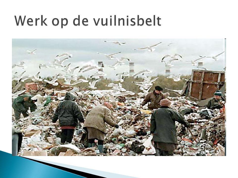Werk op de vuilnisbelt