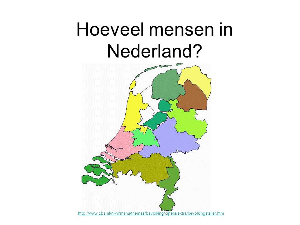 Hoeveel mensen in Nederland