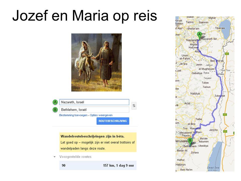 Jozef en Maria op reis