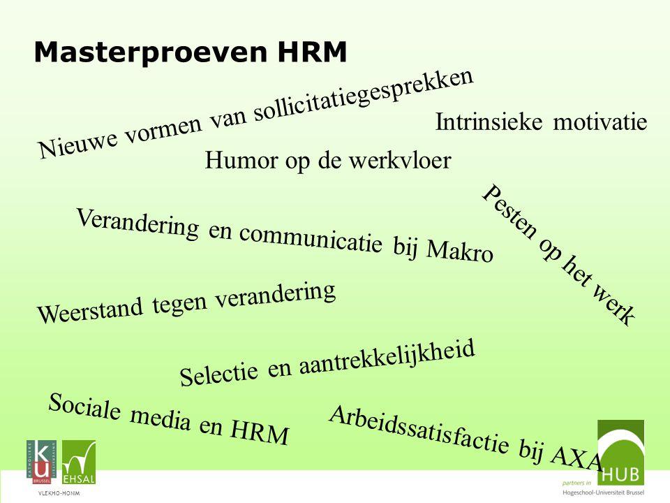 Masterproeven HRM Nieuwe vormen van sollicitatiegesprekken