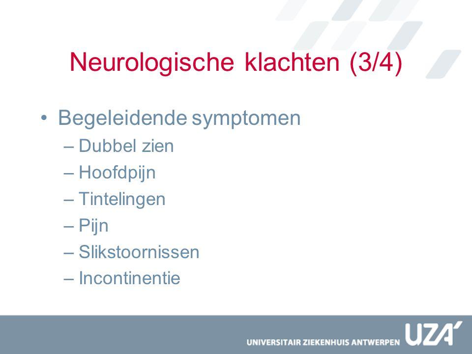 Neurologische klachten (3/4)