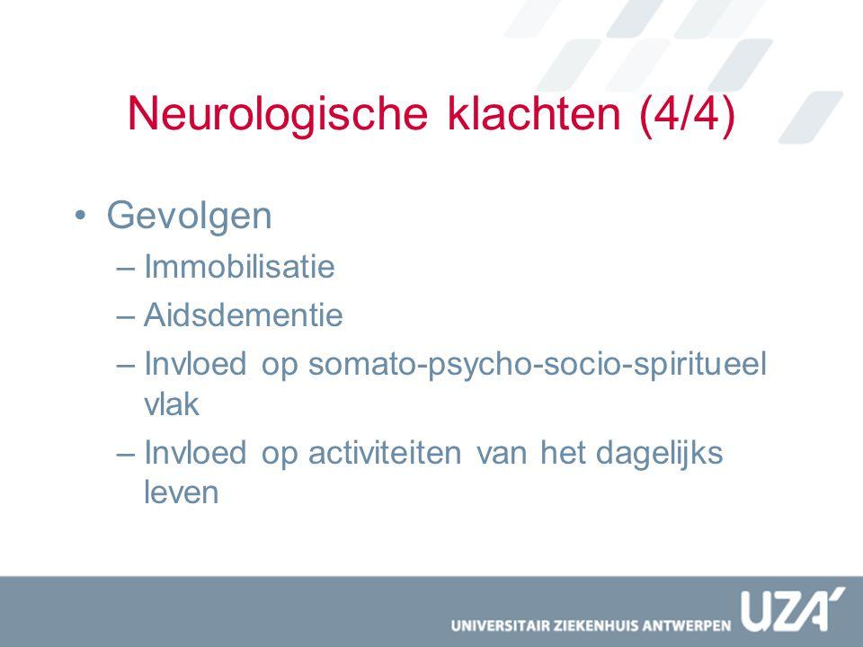 Neurologische klachten (4/4)