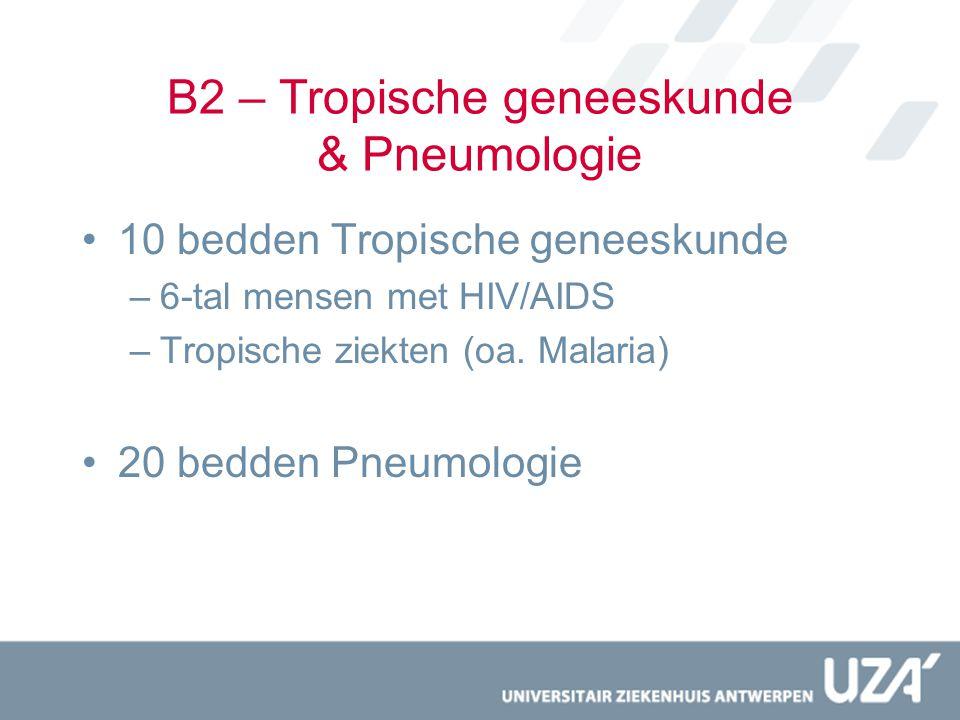 B2 – Tropische geneeskunde & Pneumologie