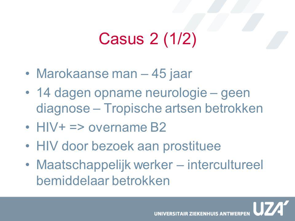 Casus 2 (1/2) Marokaanse man – 45 jaar