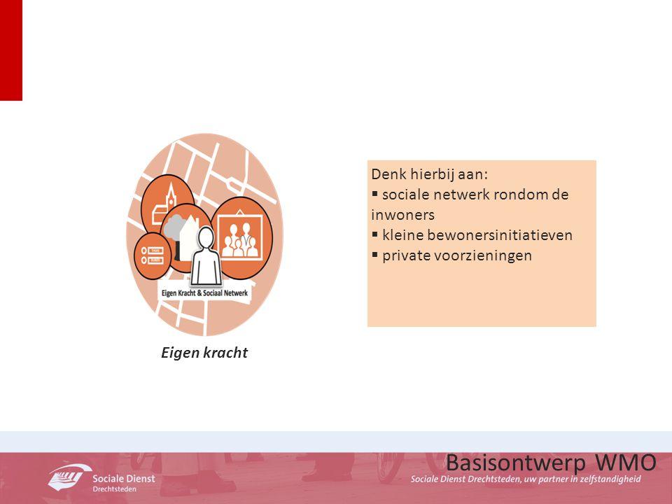 Basisontwerp WMO Denk hierbij aan: sociale netwerk rondom de inwoners