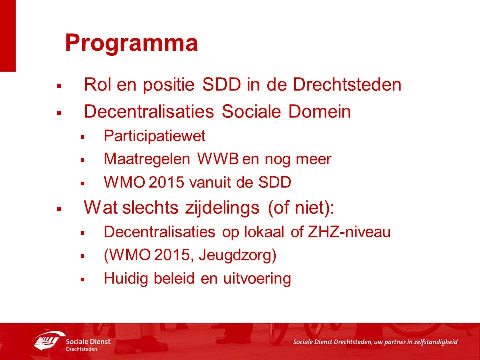 Programma Rol en positie SDD in de Drechtsteden