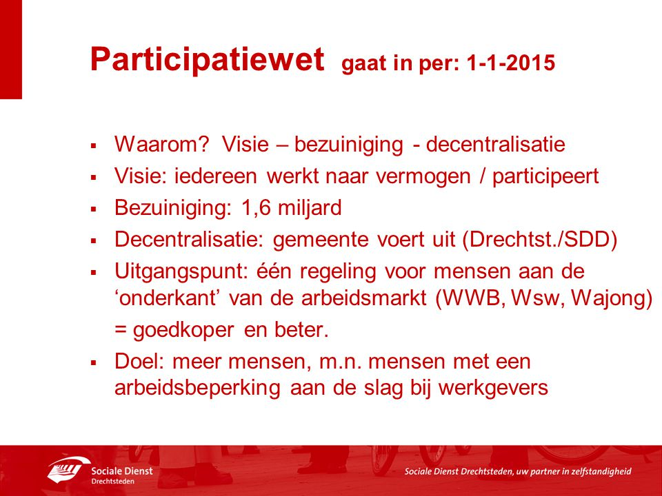 Participatiewet gaat in per: 1-1-2015