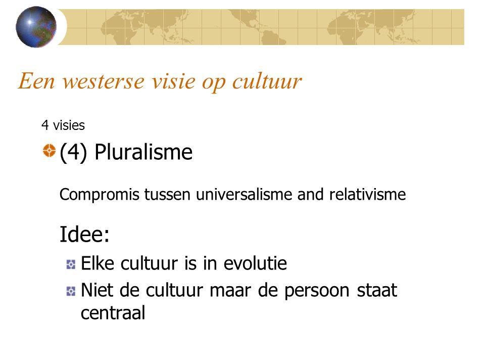 Een westerse visie op cultuur