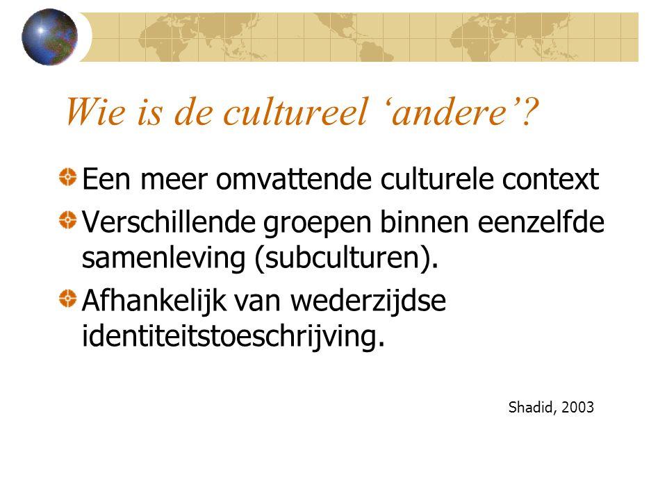 Wie is de cultureel 'andere'