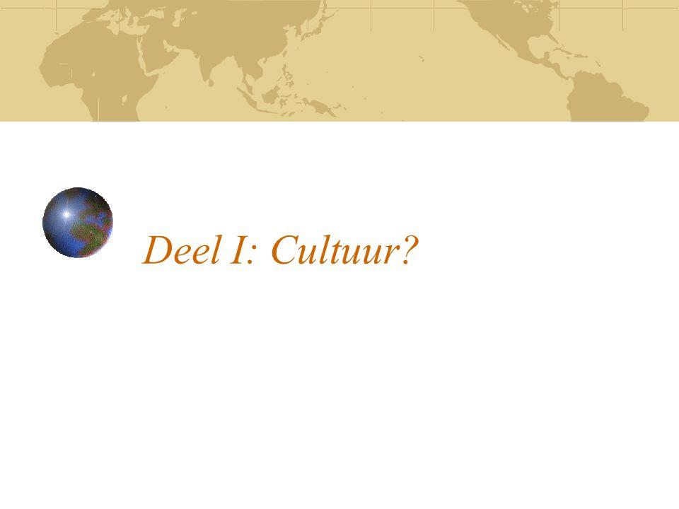 Deel I: Cultuur