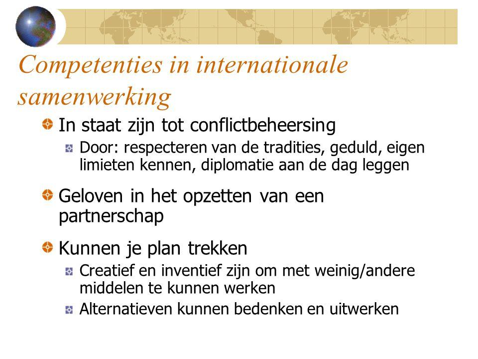 Competenties in internationale samenwerking