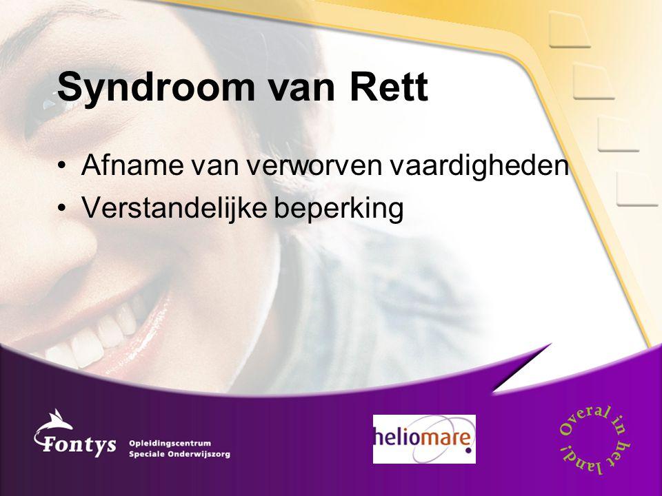 Syndroom van Rett Afname van verworven vaardigheden