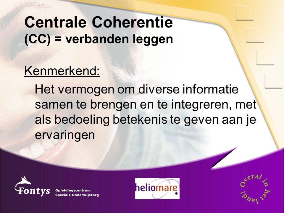 Centrale Coherentie (CC) = verbanden leggen