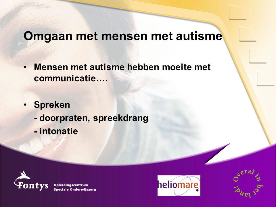 Omgaan met mensen met autisme