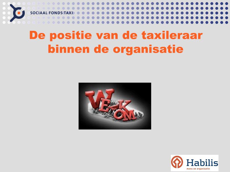 De positie van de taxileraar binnen de organisatie