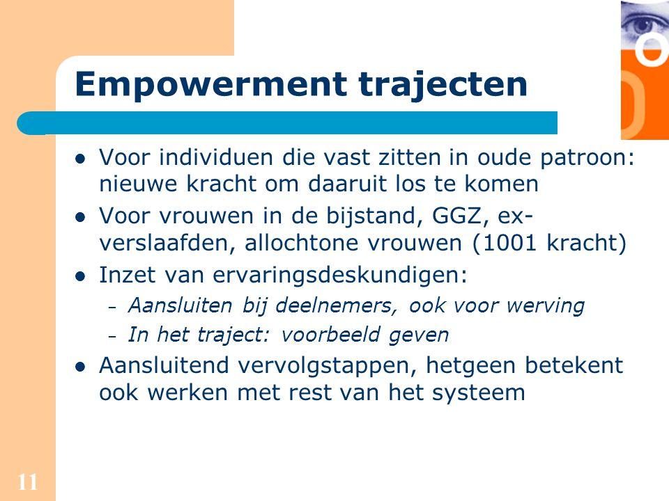 Empowerment trajecten