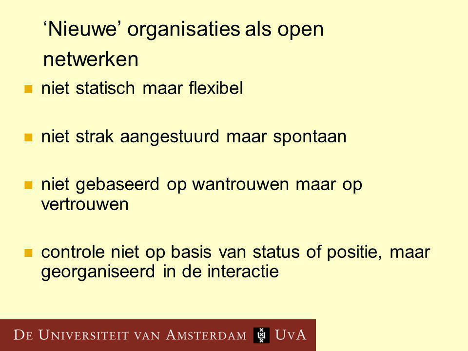 'Nieuwe' organisaties als open netwerken