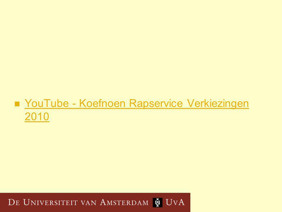 YouTube - Koefnoen Rapservice Verkiezingen 2010