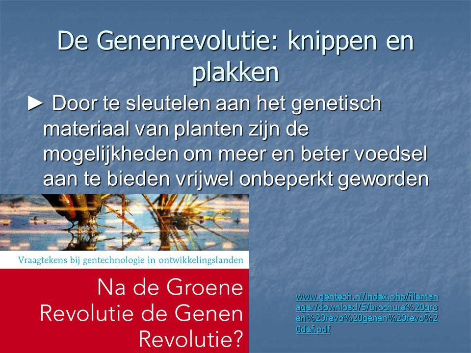De Genenrevolutie: knippen en plakken
