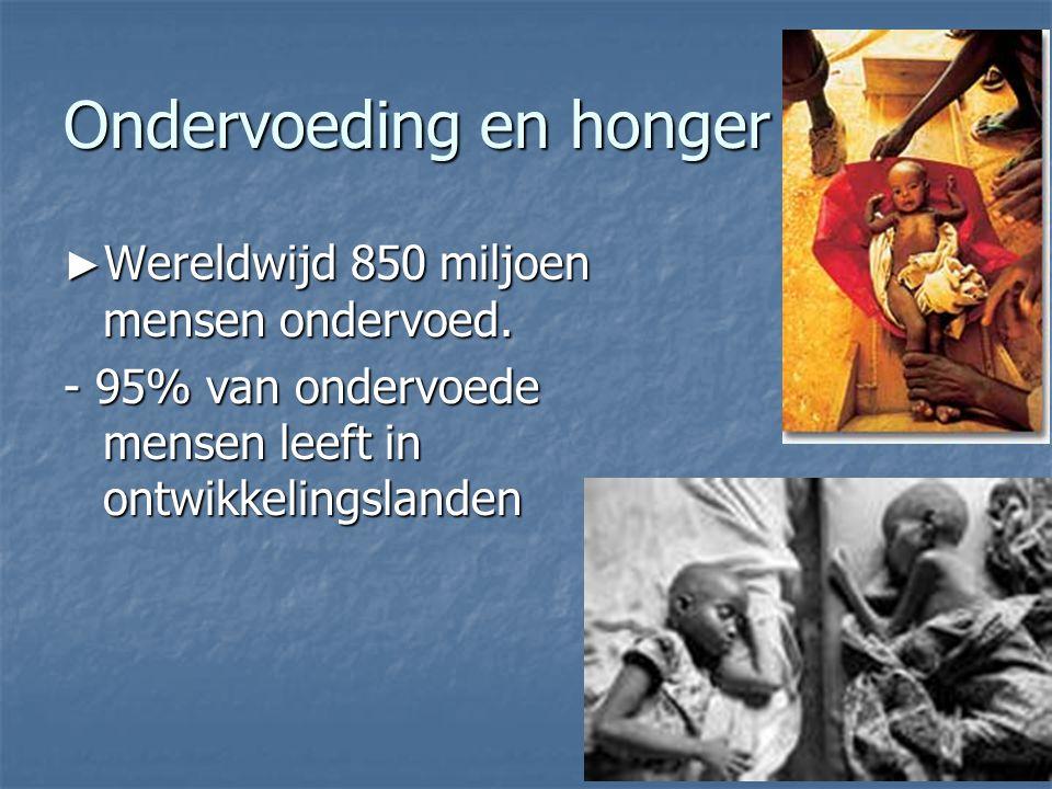 Ondervoeding en honger