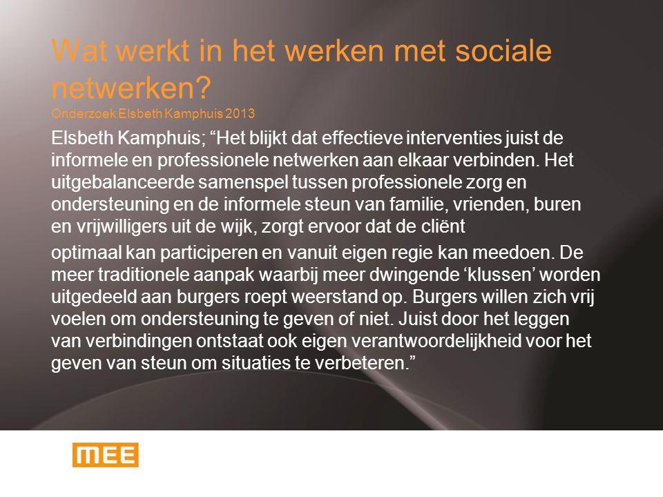 Wat werkt in het werken met sociale netwerken