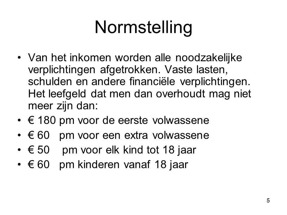 Normstelling