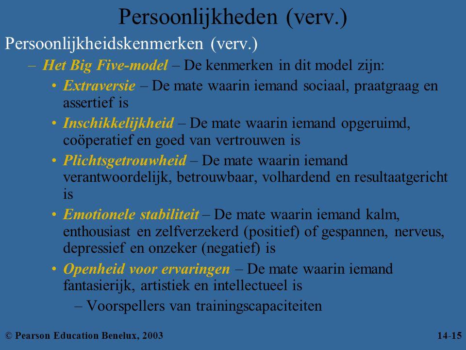 Persoonlijkheden (verv.)