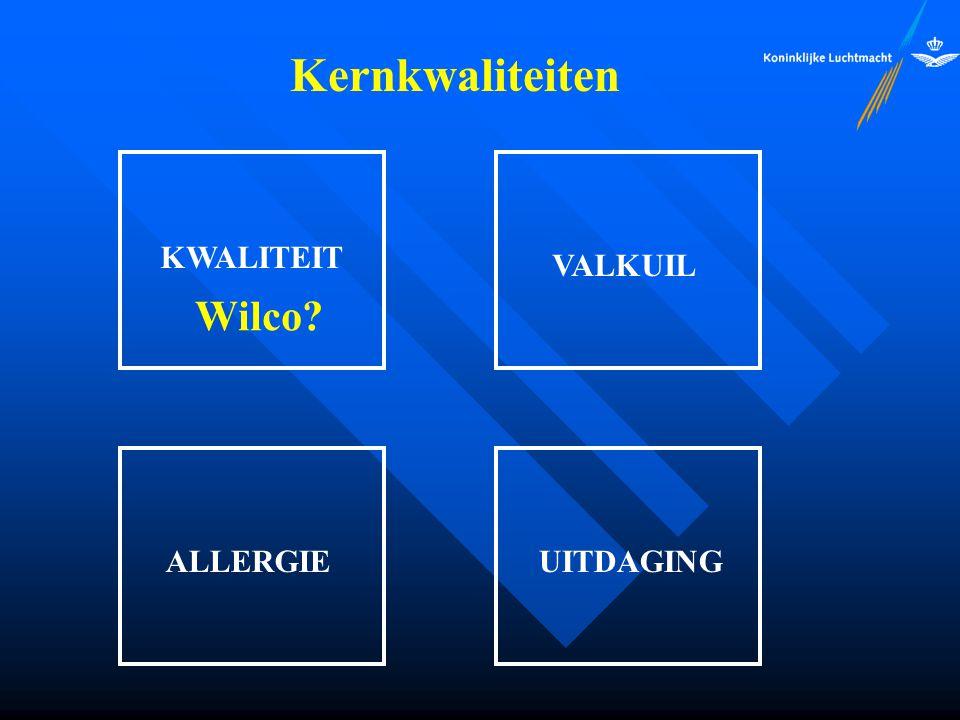Kernkwaliteiten KWALITEIT VALKUIL Wilco ALLERGIE UITDAGING