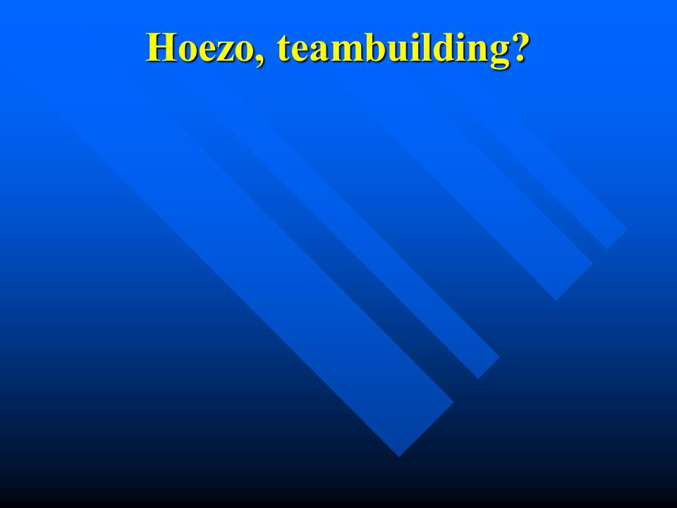 Hoezo, teambuilding