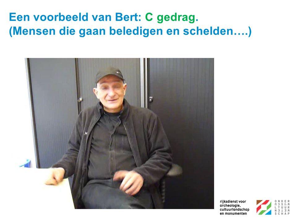 Een voorbeeld van Bert: C gedrag