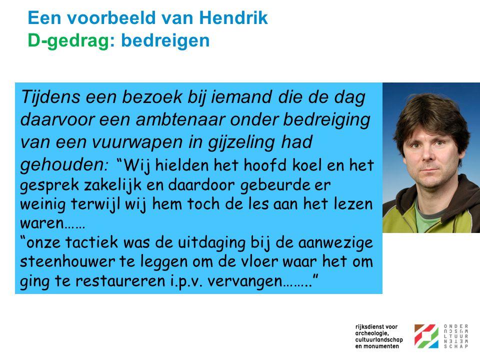 Een voorbeeld van Hendrik D-gedrag: bedreigen