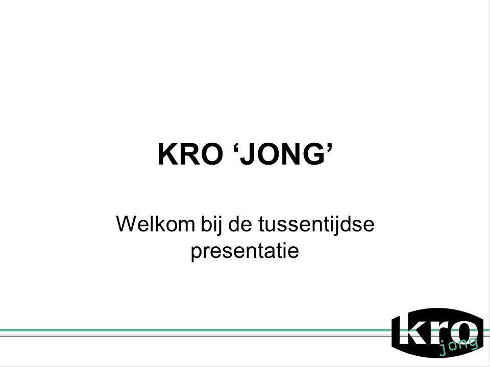 Welkom bij de tussentijdse presentatie