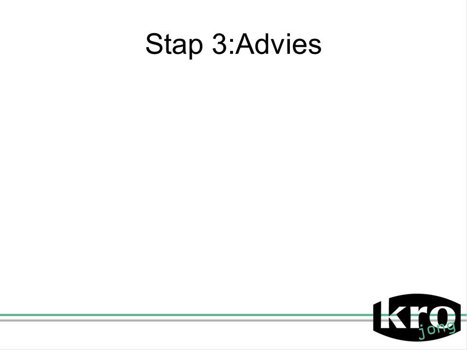 Stap 3:Advies