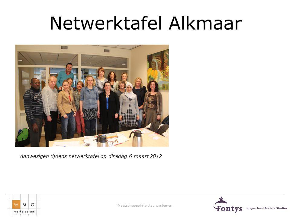 Netwerktafel Alkmaar Aanwezigen tijdens netwerktafel op dinsdag 6 maart 2012