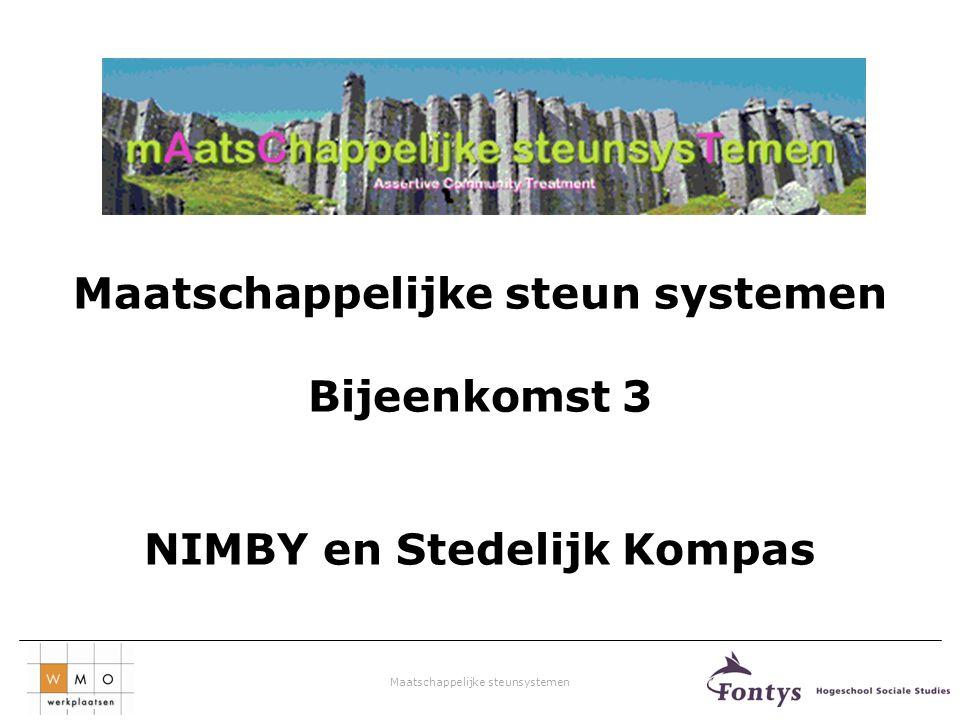 Maatschappelijke steun systemen NIMBY en Stedelijk Kompas