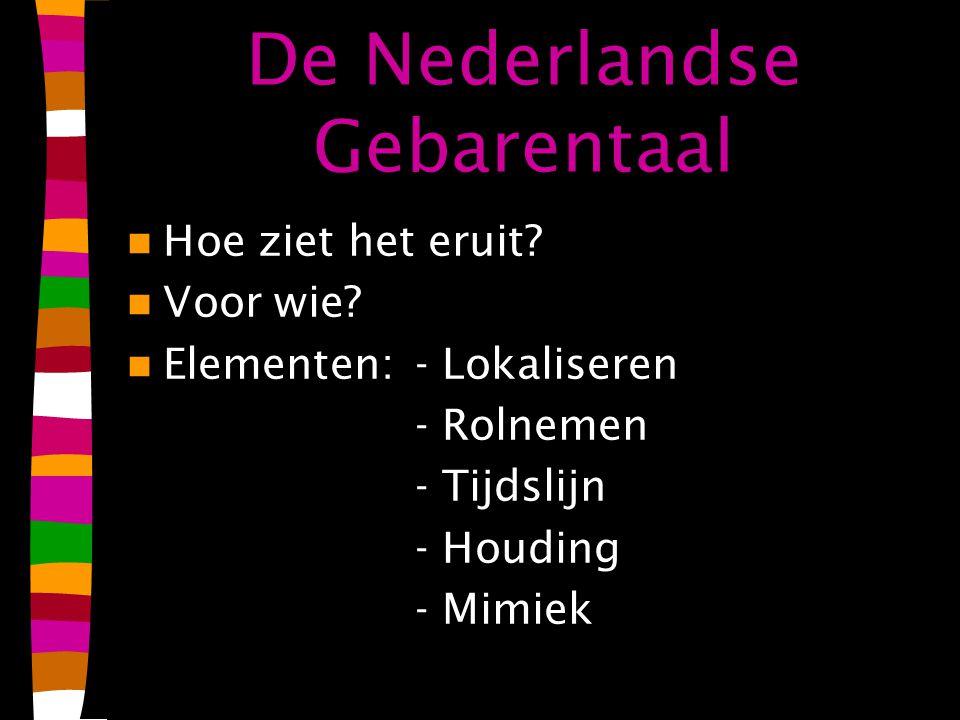 De Nederlandse Gebarentaal