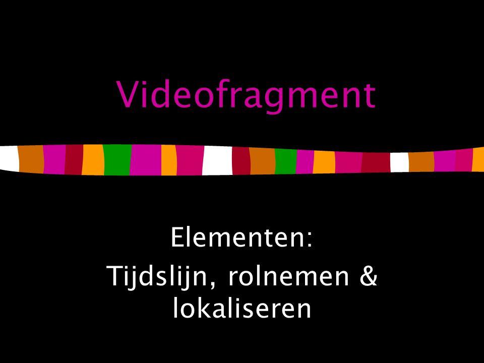 Elementen: Tijdslijn, rolnemen & lokaliseren