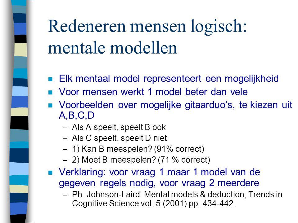 Redeneren mensen logisch: mentale modellen