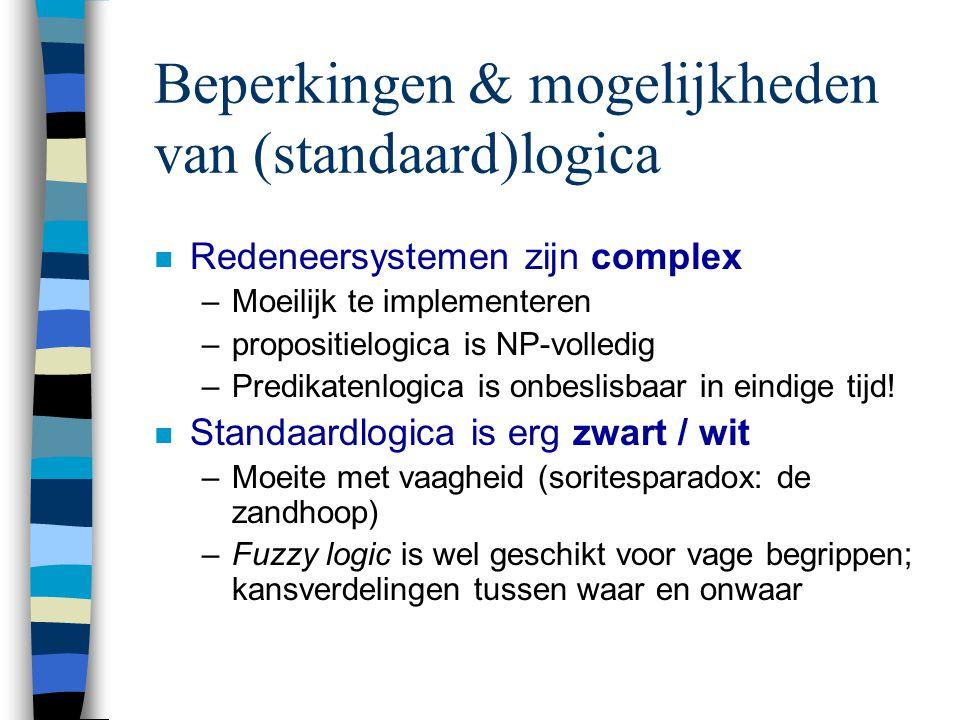 Beperkingen & mogelijkheden van (standaard)logica